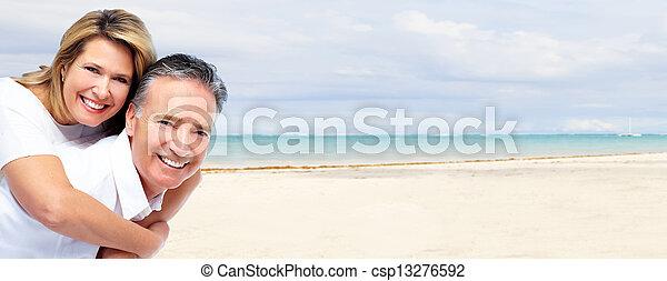 idősebb ember, párosít., boldog - csp13276592