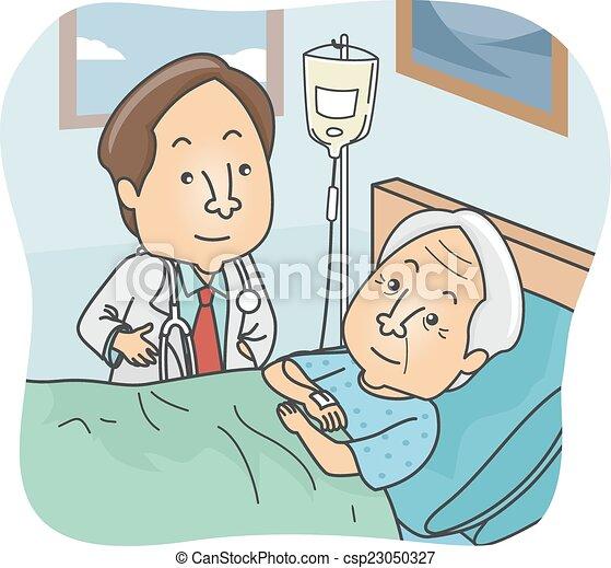 idősebb ember, türelmes - csp23050327