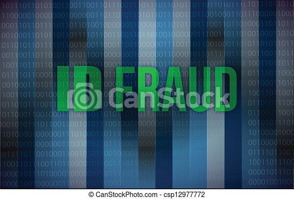 ID fraud binary background - csp12977772