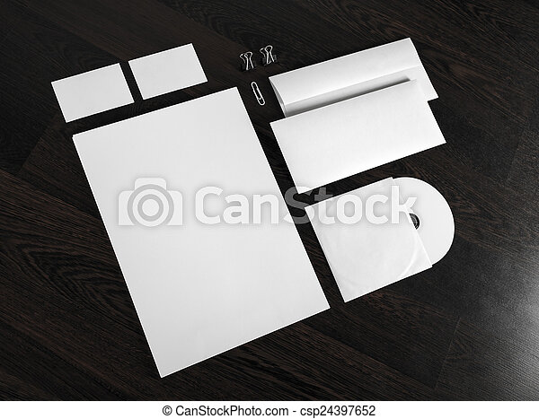 ID template on wooden background - csp24397652