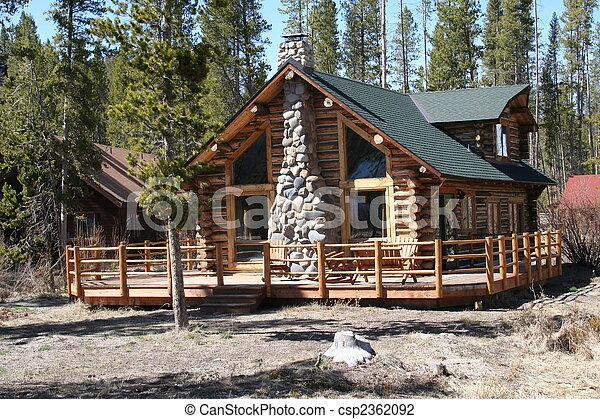 Idaho Log Cabin - csp2362092