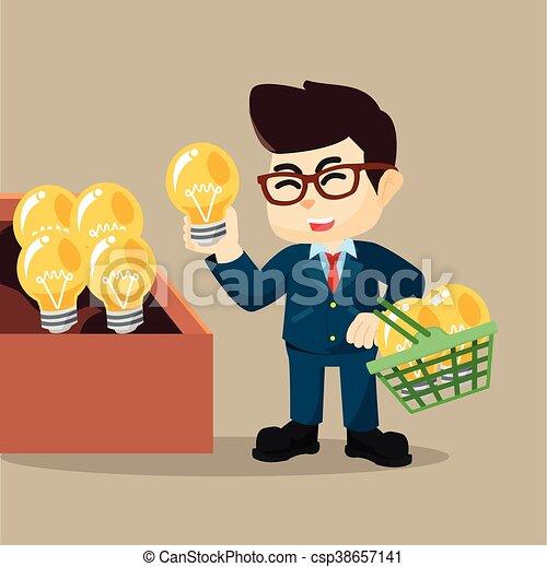 idea affari, acquisto, uomo - csp38657141