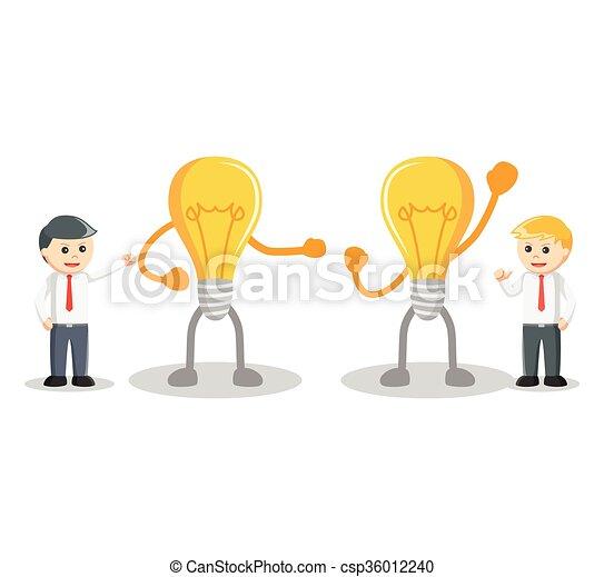 idea affari, concorrenza, uomo - csp36012240