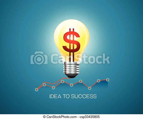 idea affari, successo - csp33435805