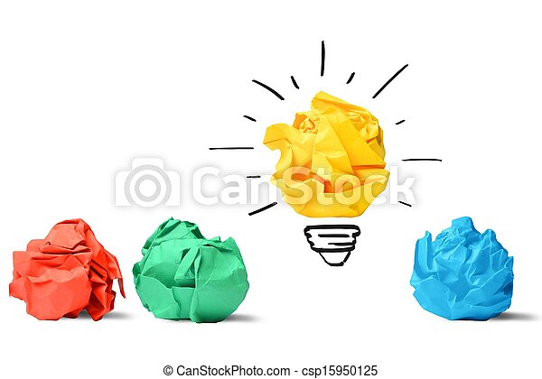 Idea and innovation concept - csp15950125