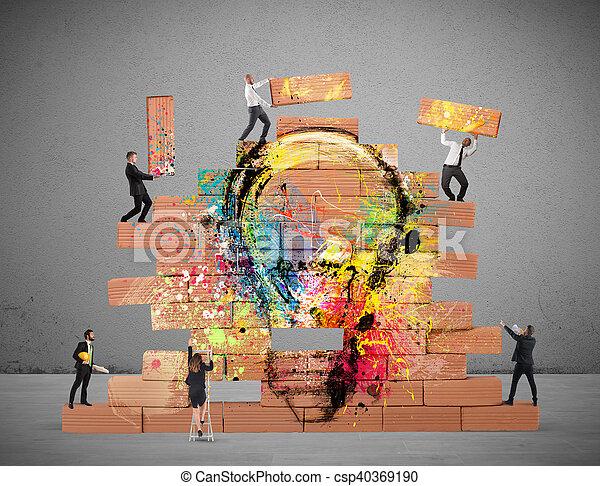Agrandando una nueva idea creativa - csp40369190