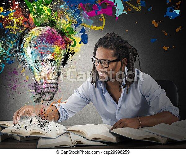 Idea creativa y colorida - csp29998259