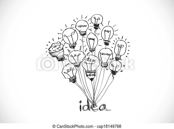 Idea concept light bulb vector illu - csp18149768