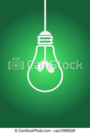 Idea concept light bulb vector illu - csp15999526