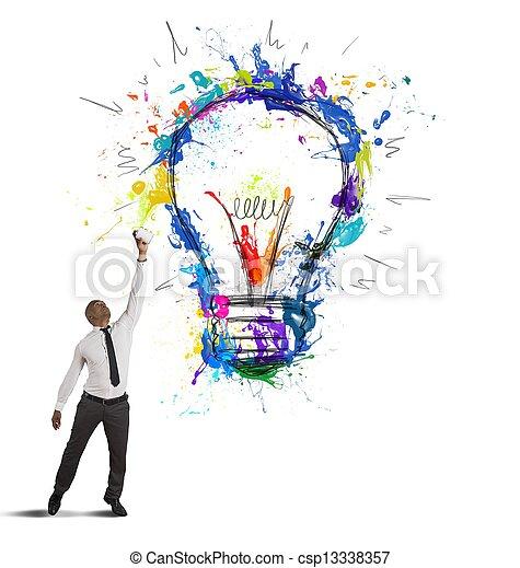 Una idea de negocios creativa - csp13338357