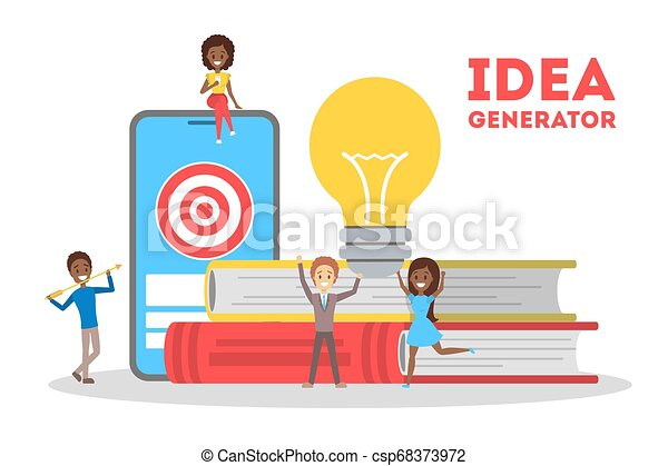 Idea Generator Concept Creative Thinking Process Development