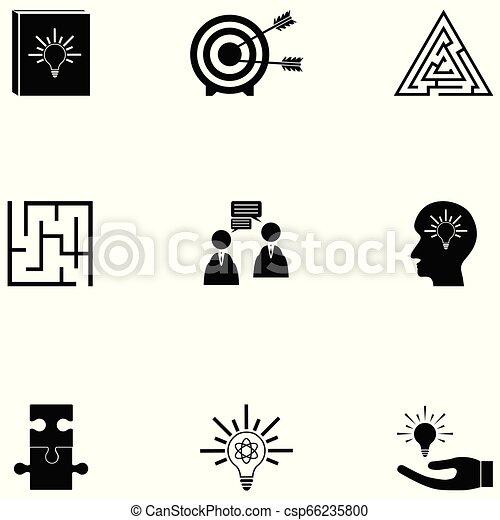 idea icon set - csp66235800