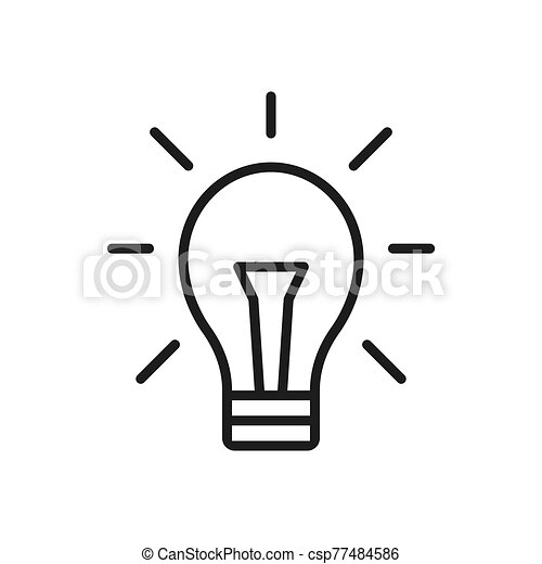 Idea icon vector. Simple idea sign in modern design style for web site and mobile app. EPS10 - csp77484586