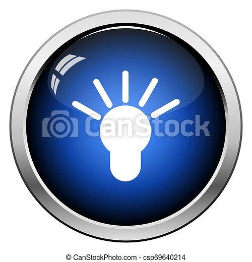 Idea Lamp Icon - csp69640214