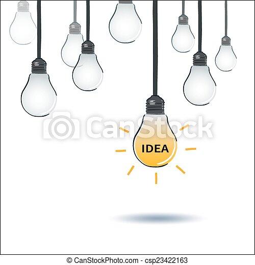 idea light bulb - csp23422163