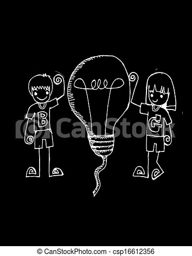 idea Light bulb vector icon - csp16612356