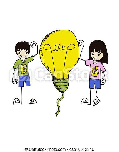 idea Light bulb vector icon - csp16612340