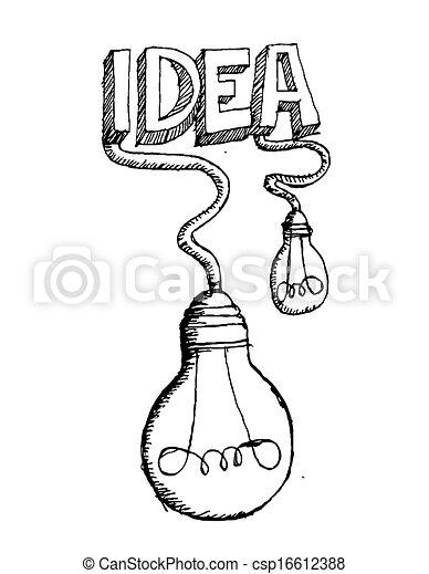 idea Light bulb vector icon - csp16612388