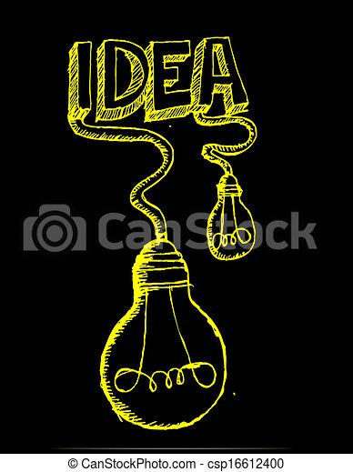 idea Light bulb vector icon - csp16612400