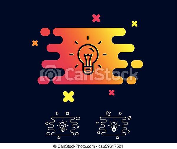 Idea line icon. Light bulb sign. - csp59617521
