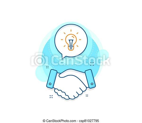 Idea line icon. Light bulb sign. Vector - csp81027795