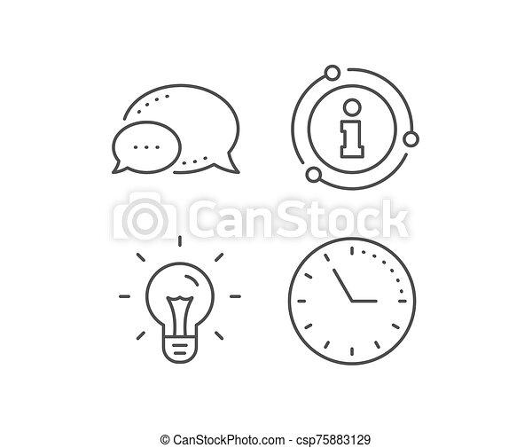 Idea line icon. Light bulb sign. Vector - csp75883129