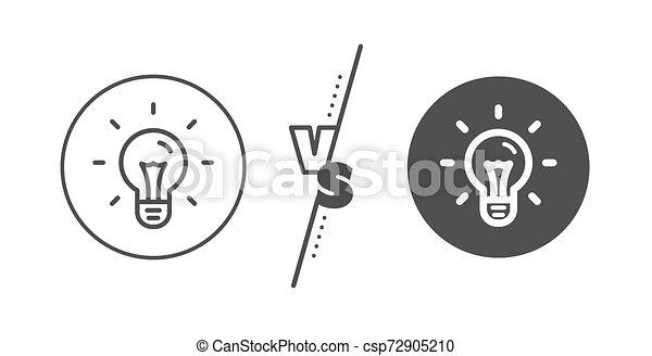 Idea line icon. Light bulb sign. Vector - csp72905210