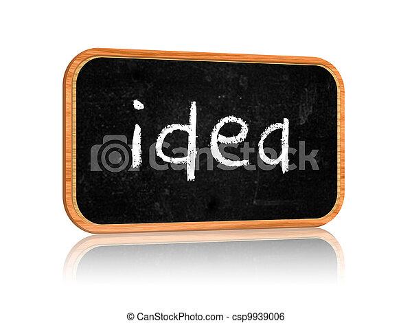 idea on blackboard banner - csp9939006