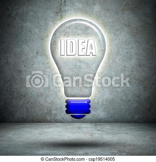 IDEA on concrete wall - csp19514005
