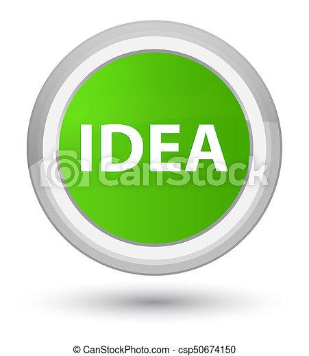 Idea prime soft green round button - csp50674150