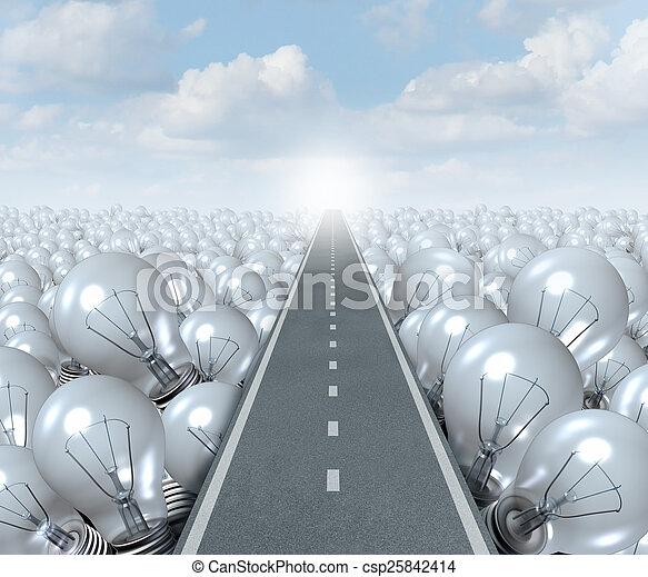 Idea Road - csp25842414