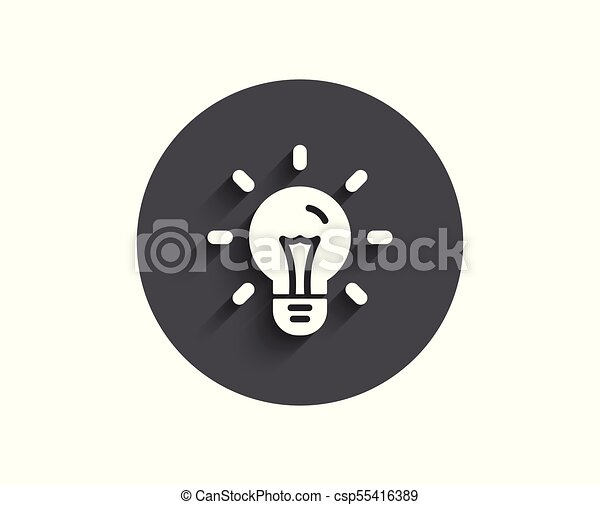 Idea simple icon. Light bulb sign. - csp55416389