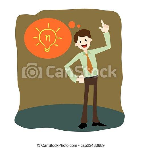 El hombre de negocios tiene una idea - csp23483689