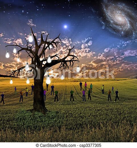 Idea tree landscape - csp3377305