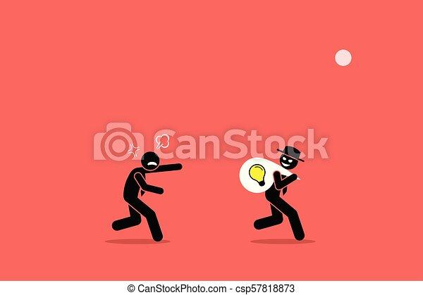 idea., uomo affari, male, affari, rubare - csp57818873