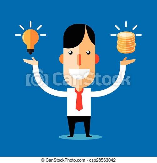 idea., uomo affari - csp28563042