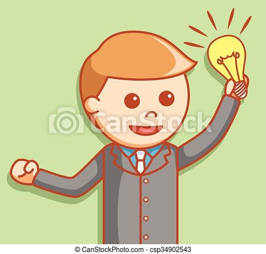 idea, uomo affari - csp34902543