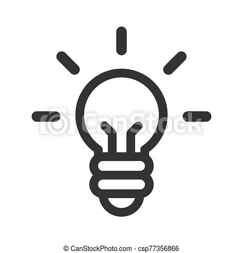 Idea vector icon. Light bulb - csp77356866