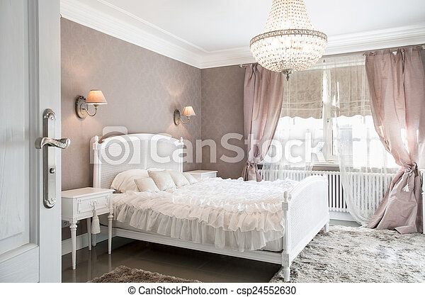 Ideal bedroom for woman - csp24552630