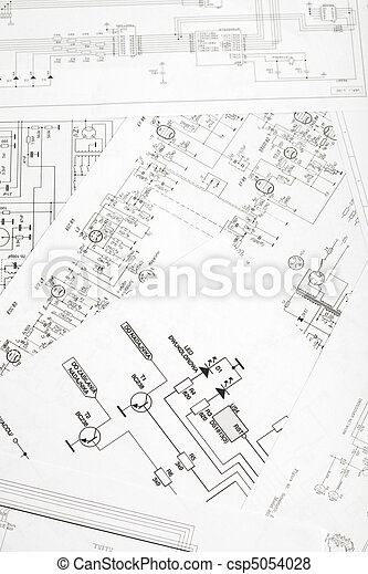 An Electronic Schematic Diagram Ideal Technology Background