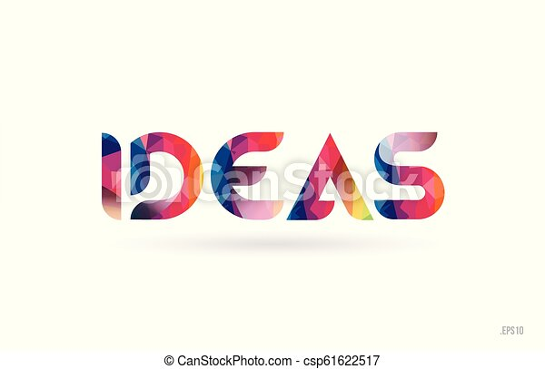 Ideas Colored Rainbow Word Text Suitable For Logo Design Ideas