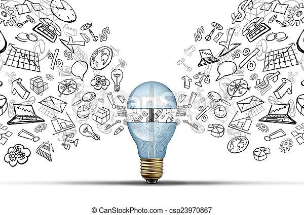 Ideas de innovación empresarial - csp23970867