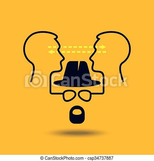 Ideas exchange - Illustration - csp34737887