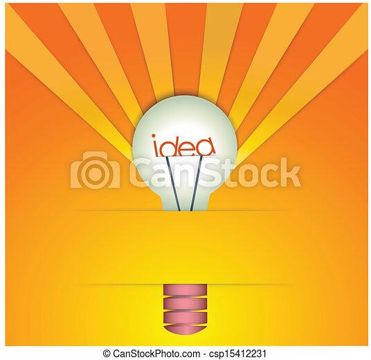idee, bol, licht - csp15412231