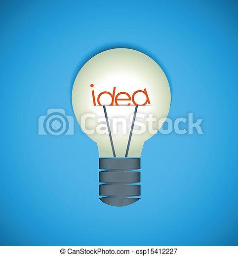 idee, bol, licht - csp15412227