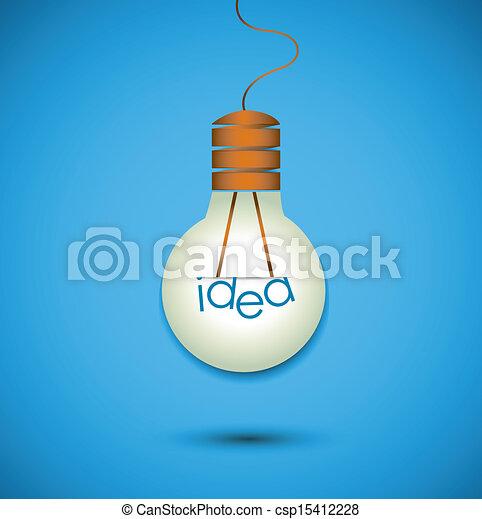 idee, bol, licht - csp15412228
