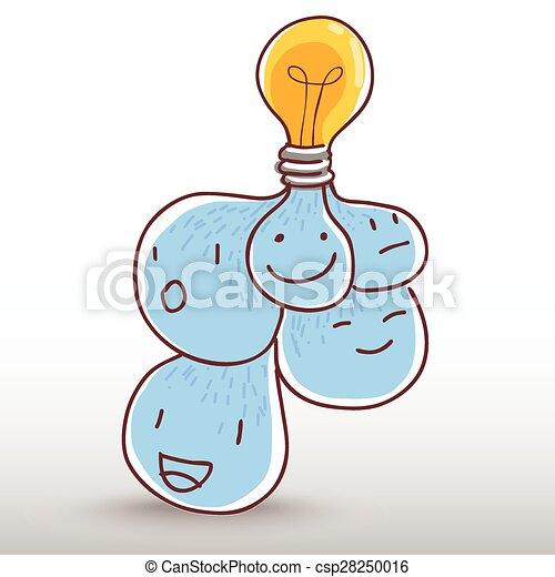 idee, bol, licht - csp28250016