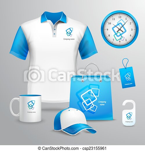 Identidad corporativa, plantilla. Azul, decorativo,... vector clip ...