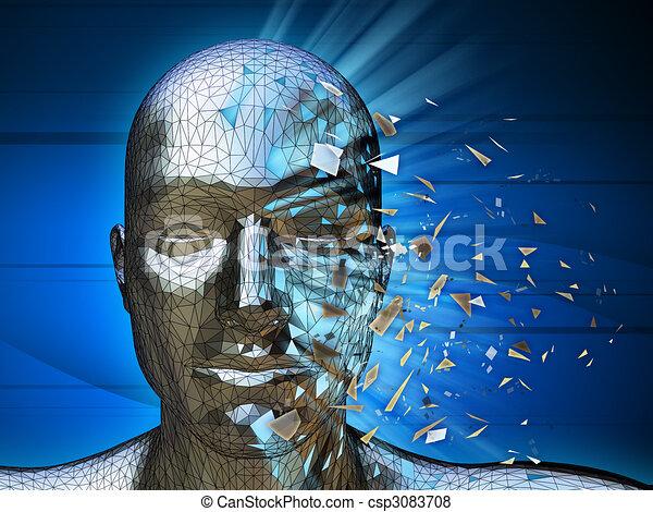 Identidad digital - csp3083708
