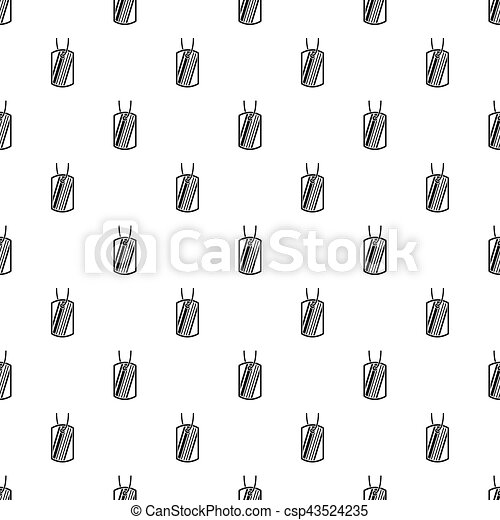 Identification army badge pattern, simple style - csp43524235